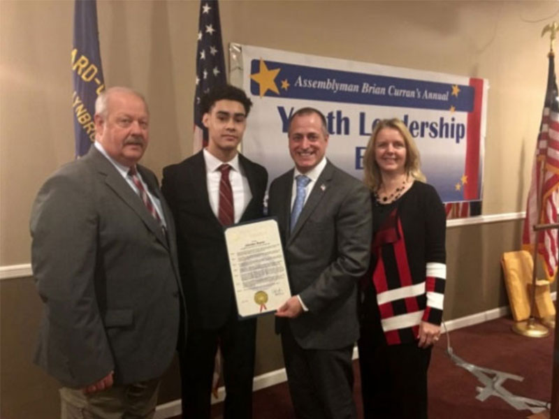 FHS senior Sebastian Mauras honored at second annual youth leadership event