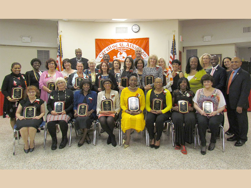 Recognizing 757 years of dedicated service to Freeport students