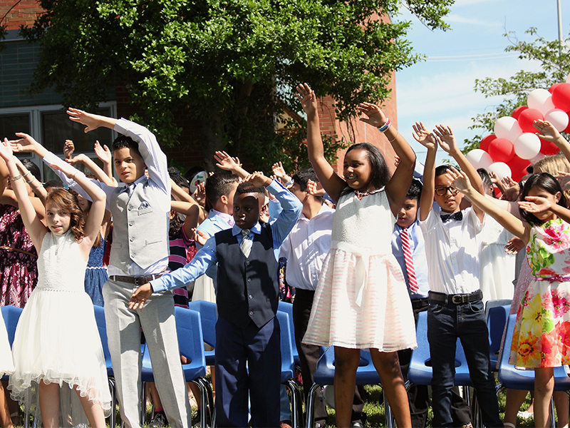 Giblyn Graduates 130 Fourth Graders