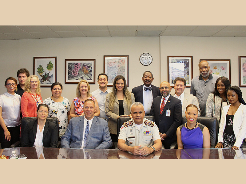 District Welcomes Brazil's Colonel Brandao