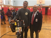 Atkinson Students Receive Visit from Cycling Peace Advocate photo