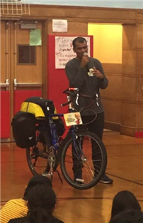 Atkinson Students Receive Visit from Cycling Peace Advocate photo 2