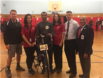 Atkinson Students Receive Visit from Cycling Peace Advocate photo 3